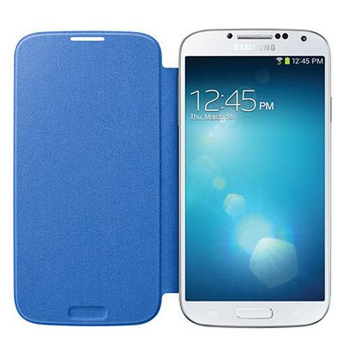 OEM Samsung Light Blue Protective Flip Cover Hard Case for Samsung Galaxy S4