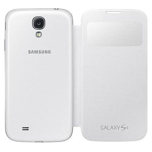 OEM Samsung White S-View Protective Flip Cover Hard Case for Samsung Galaxy S4 - EF-CI950BWESTA