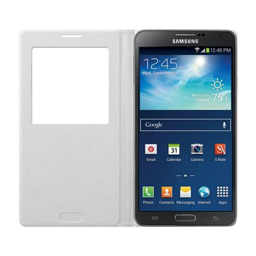 Samsung White S-View Flip Cover Diary Case for Samsung Galaxy Note 3 - EF-CN900BWESTA