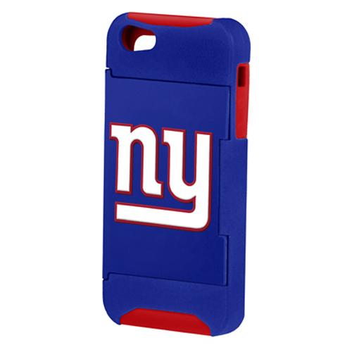 Forever Collectibles NFL Hideaway Credit Card Apple iPhone 5/ 5S Hard Case - Retail Packaging - New York Giants