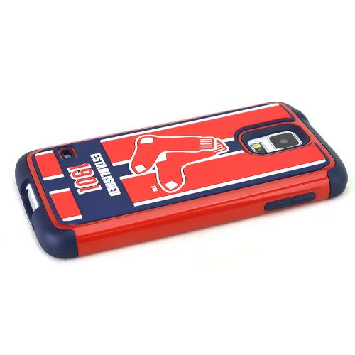 Forever Collectibles MLB Boston Red Sox Dual Hybrid TPU Samsung Galaxy S5 Rugged Case
