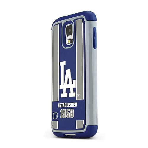 Forever Collectibles MLB Los Angeles Dodgers Dual Hybrid TPU Samsung Galaxy S5 Rugged Case