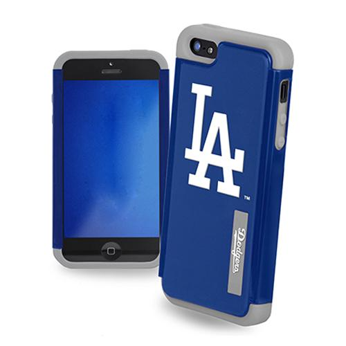Forever Collectibles MLB Dual Hybrid TPU Apple iPhone 5/5S Rugged Case - Los Angeles Dodgers