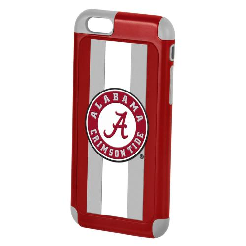NCAA Licensed Alabama Crimson Dual Hybrid Hard Cover on TPU Case for Apple iPhone 6 (4.7 inches)