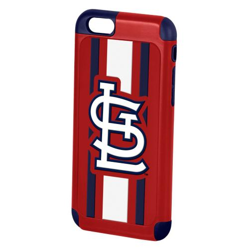 MLB Licensed Saint Louis Cardinals Protective Rugged Hard Cover on TPU Hybrid Case for Apple iPhone 6 (4.7 Inches)