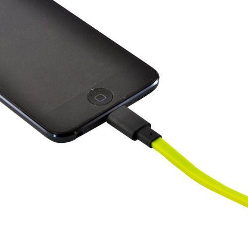 Ventev Lime Green MFI Certified 3.3 ft. Charge n' Sync Lightning Cable w/ Tough Flat Tangle Free Cord