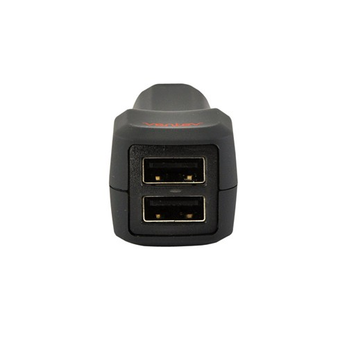 Ventev Gray Universal Dual 1A USB Port Car Charger (2100 mAh) - Charge 2 phones at 1 time!