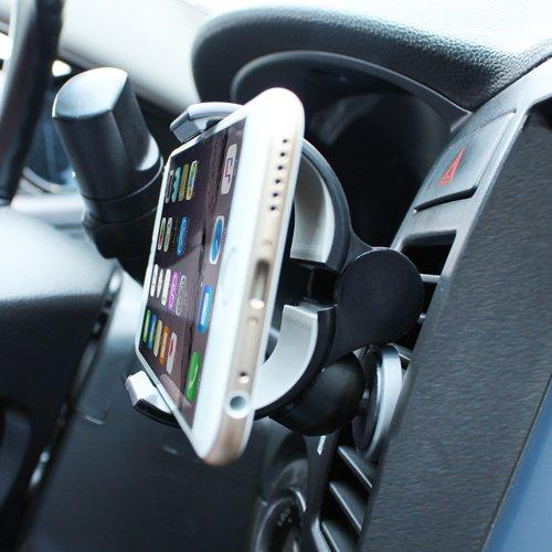 Phone Mount, Xenomix CD Slot Car Mount Holder Cradle for Smartphones, GPS, MP3 Players, and More! [Black]