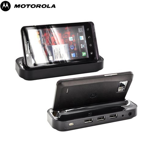 Original Motorola Droid Bionic XT875 Multimedia HD Docking Station w/ A/C Wall Adapter, 89498N - Black