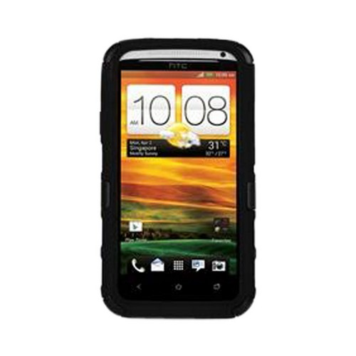 Seidio HTC One X Convert Combo Hard Cover Over Silicone w/ Screen Protector, Holster & Belt Clip - Black