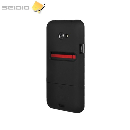 Seidio Surface HTC EVO 4G LTE Rubberized Slip On Hard Case - Black