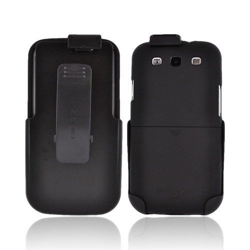 Seidio Samsung Galaxy S3 Surface Combo Rubberized Hard Case w/ Holster - Black