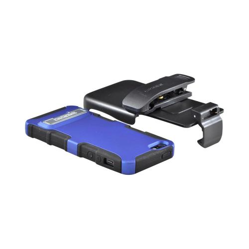 OEM Seidio Active Combo Apple iPhone 5/5S Rubberized Hard Cover Over Silicone w/ Kickstand & Holster - Royal Blue/ Black
