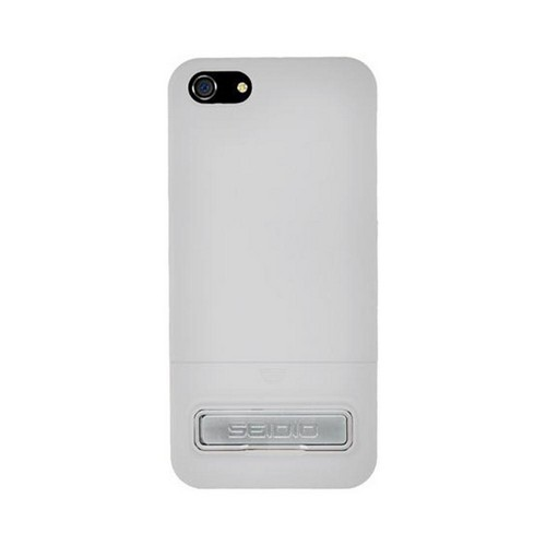 OEM Seidio Surface Combo Apple iPhone 5/5S Glossy Hard Case w/ Kickstand & Holster - White/ Black
