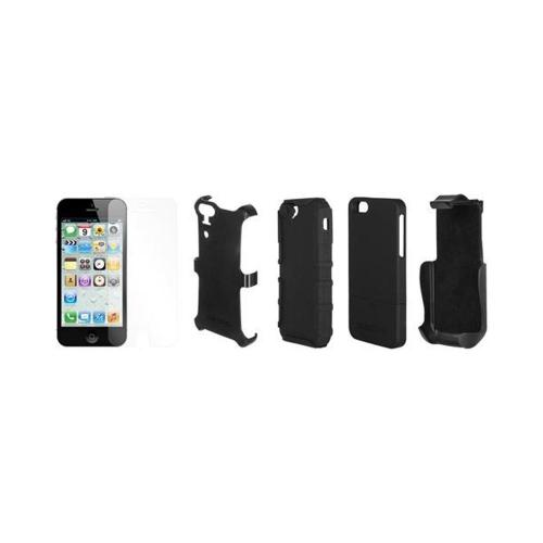 Seidio Convert Combo Series Hard Cover Over Silicone w/ Screen Protector, Holster & Belt Clip for Apple iPhone 5/5S