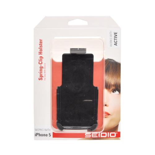 OEM Seidio Active Apple iPhone 5/5S Spring Clip Holster w/ Swivel Belt Clip  HLIPH5ASA - Black (Works only with Seidio Active Case!)