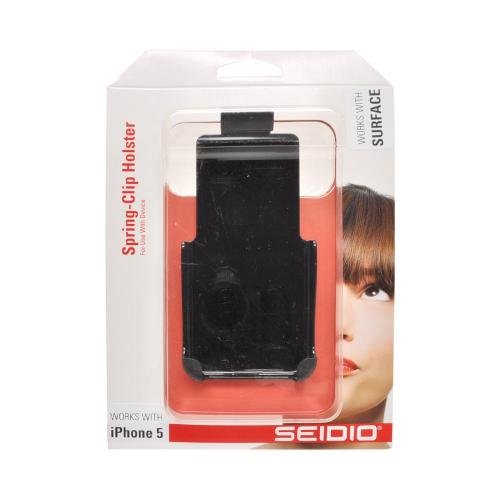 OEM Seidio Surface Apple iPhone 5/5S Spring Clip Holster w/ Swivel Belt Clip  HLIPH5ASC - Black (Works only with Seidio Surface Case!)