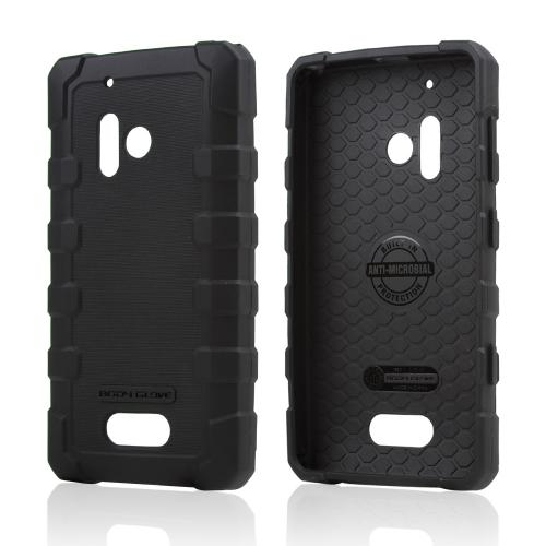 Body Glove Black DropSuit Crystal Silicone Skin Case w/ Textured Lines for Nokia Lumia 928 - 9356001