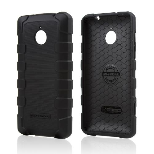 Body Glove Black DropSuit Crystal Silicone Skin Case w/ Textured Lines for HTC 8XT - 9356101