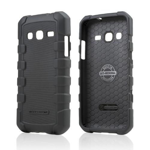 Body Glove Black DropSuit Crystal Silicone Skin Case w/ Textured Lines for Samsung ATIV S Neo - 9358201