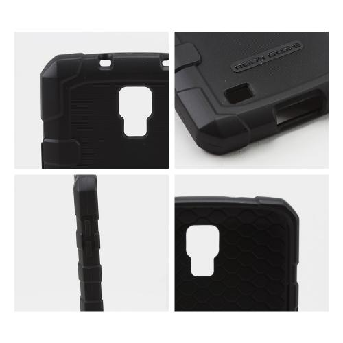 Body Glove Black DropSuit Crystal Silicone Skin Case w/ Textured Lines for Samsung Galaxy S4 Active - 9363901
