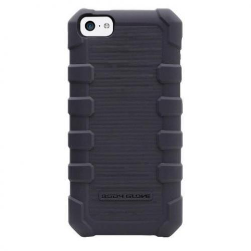 Body Glove Gray DropSuit Series Crystal Silicone Case w/ Textured Lines for Apple iPhone 5C - 9372901