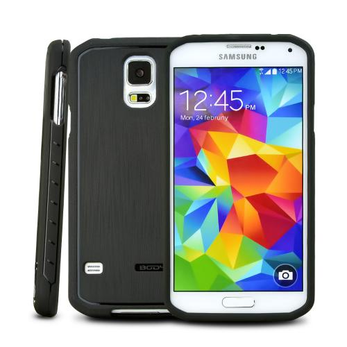 Body Glove Black Satin Series Slim Protective Crystal Silicone Case for Samsung Galaxy S5 - 9408903