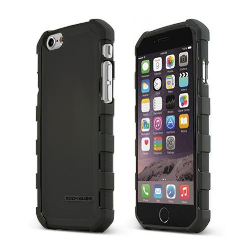 Black Body Glove Dropsuit Series Crystal Silicone Case w/ Textured Lines Made for Apple iPhone 6 (4.7 inch) - 9449101