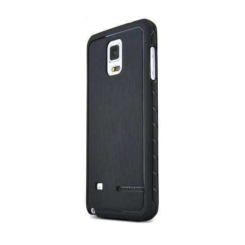 Samsung Galaxy Note 4 Case, Body Glove [Black] SATIN Series Slim Protective Crystal Silicone TPU Case