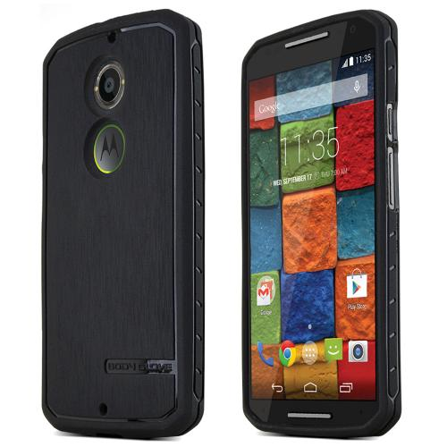 Moto X (2014 2nd Gen) [Body Glove] TPU Case [Black] Protective Antibacterial Case w/ Flexible Crystal Silicone TPU Impact Resistant Material [Slim and Perfect Fitting Motorola Moto X (2014 2nd Gen) Case]