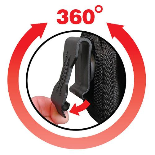 Nite Ize Vertical Clip Cargo Nylon Holster Pouch Case [Black] w/ Rugged Rotating Clip & Velcro Closure for Tall Devices