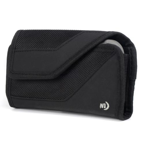 Nite Ize Horizontal Clip Cargo Nylon Holster Pouch Case [Black] w/ Velcro Closure for XL Devices