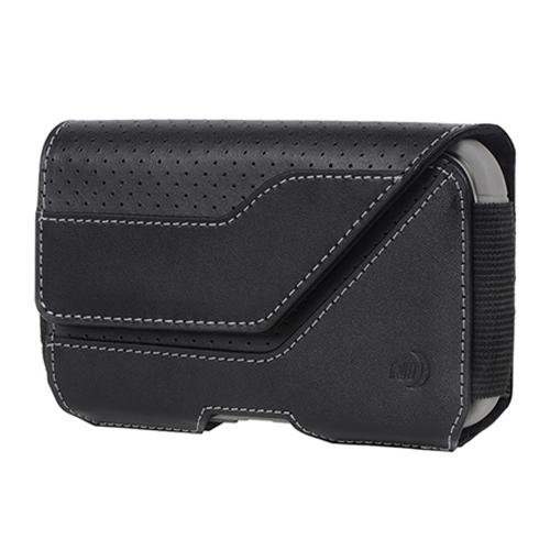 Nite Ize Horizontal Clip Case Executive Holster Pouch [Black] w/ Velcro Closure for XL Devices
