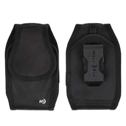 Nite Ize Vertical Clip Case Cargo Nylon Wide Load Holster Pouch Case [Black] w/ Velcro Closure