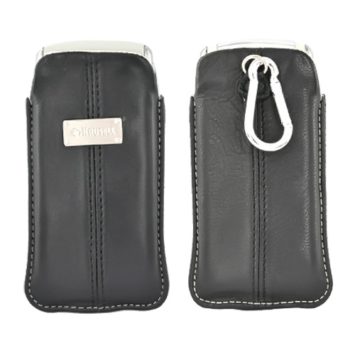 Krusell Luna Vertical Medium Genuine Leather Pouch Case w/ Belt Ring - 95201 (BS)