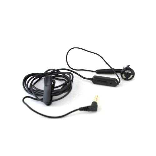 Black Universal In Ear Universal 3.5mm Mono Handsfree Headset with On & Off Button & Mic
