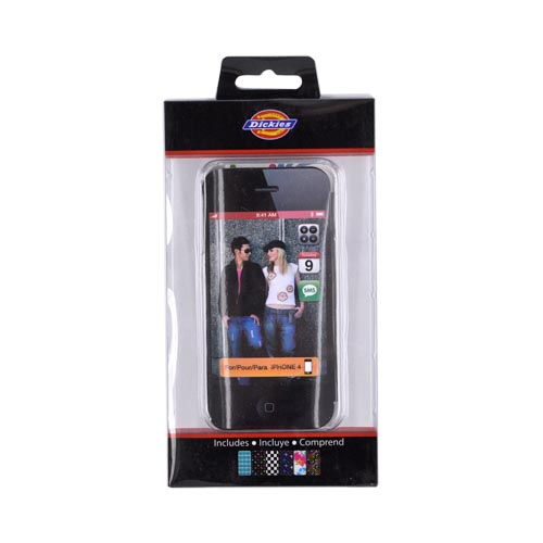 Original Dickies ICON AT&T/ Verizon Apple iPhone 4 Clear Hard Case w/ 6 Interchangeable Designs, 97001
