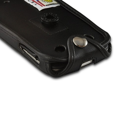 Black Turtleback Premium Leather Case w/ Swivel Belt Clip for Blackberry Bold 9900