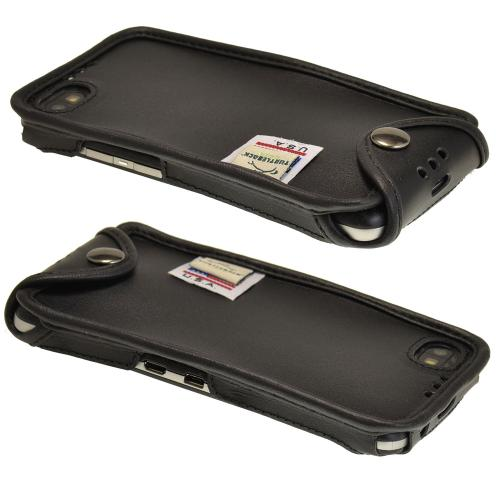 Black Turtleback Genuine Leather Pouch for Blackberry Z30