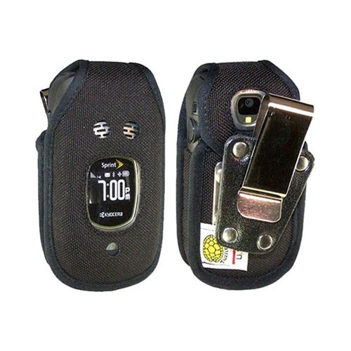 Original TurtleBack Premium Kyocera Duramax Heavy Duty Pouch w/ Steel Swivel Belt Clip - Black