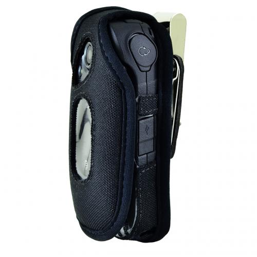 Kyocera DuraXE Fitted Pouch, Turtleback [Black] Nylon Holster Pouch Case w/ Rotating Metal Belt Clip - Made in the USA!