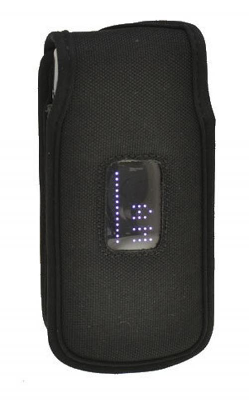Black Turtleback Ballistic Nylon Pouch w/ Heavy Duty Steel Swivel Belt Clip for LG Exalt VN360