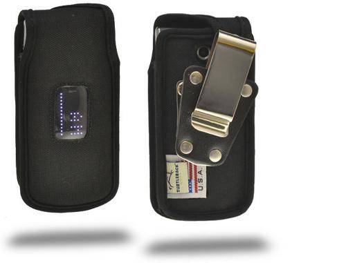 Black Turtleback Ballistic Nylon Pouch w/ Heavy Duty Steel Swivel Belt Clip for LG Wine III 3 UN530