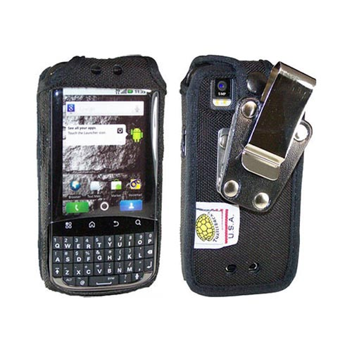 Original TurtleBack Premium Motorola Admiral Heavy Duty Pouch w/ Steel Swivel Belt Clip - Black