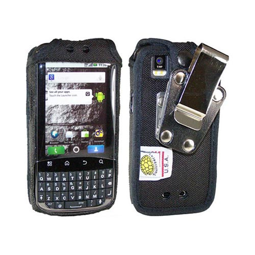 Original TurtleBack Premium Motorola XPRT MB612 Heavy Duty Pouch w/ Steel Swivel Belt Clip - Black
