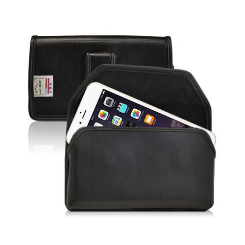 Black Turtleback Apple iPhone 6 Plus (5.5 Inches) 2XL Holster Genuine Leather with Metal Clip with Metal Clip & Magnetic Closure
