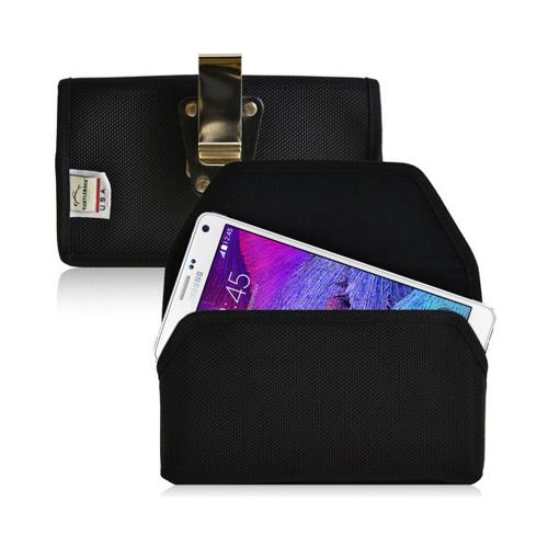 Black Turtleback Samsung Galaxy Note 4 2XL Holster Ballistic Nylon Heavy Duty Case with Magnetic Closure