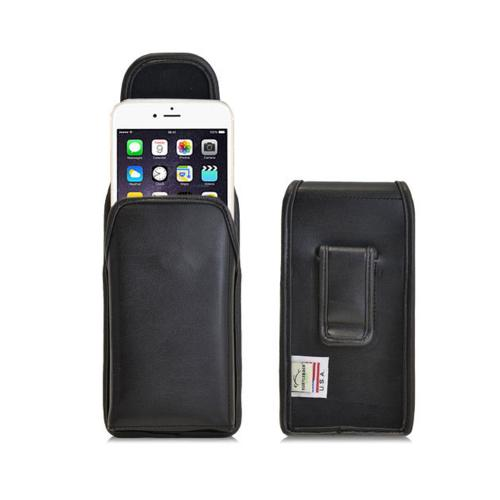 Black Turtleback Apple iPhone 6 Plus (5.5 Inches) 3XL Vertical Genuine Leather Holster with Clip and Magnetic Closure