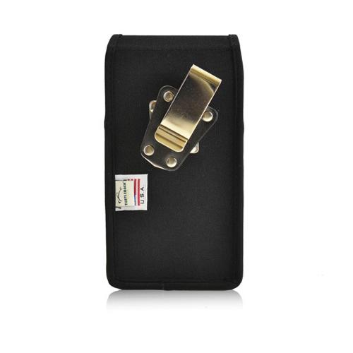 Samsung Galaxy Note 4 Case,  [Heavy Duty Nylon]  Vertical Rotating Metal Clip and Magnetic Closure 3XL Pouch