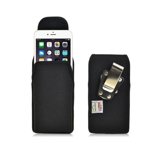 Black Turtleback Extra Large Vertical Holster Ballistic Nylon Heavy Duty Case with Magnetic Closure Made for Apple iPhone 6 (4.7 inch)